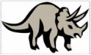 Cartoon graphic of dinosaur