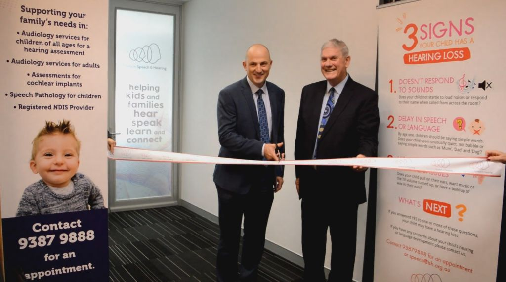 TSH CEO Mark Fitzpatrick and City of Cockburn Mayor Logan Howlett opening the Cockburn clinic