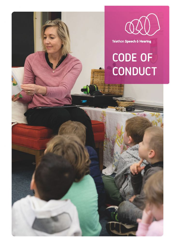 Telethon Speech & Hearing - Code of Conduct - Cover Image