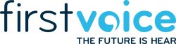 First Voice Logo with Tagline