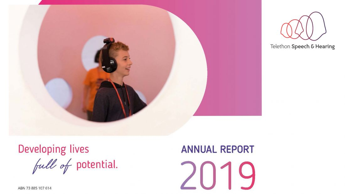 Telethon Speech & Hearing Annual Report 2019 Cover