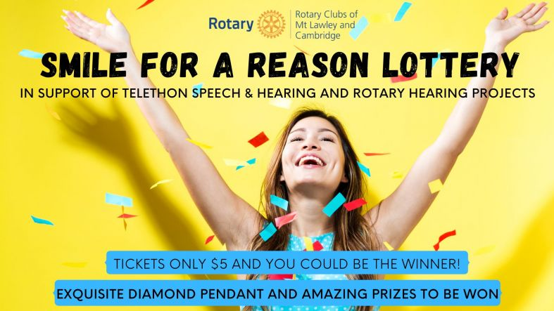 Smile for a Reason Lottery Rotary Club Mt Lawley