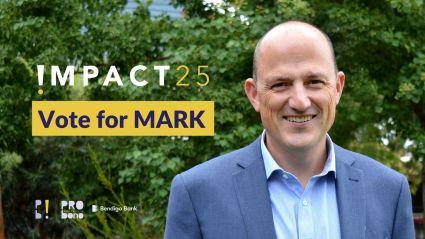Vote Mark Fitzpatrick Pro Bono Australia Impact 25 Awards
