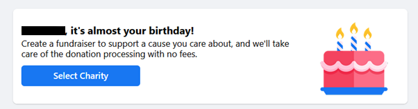 Set up your birthday fundraiser on Facebook for TSH