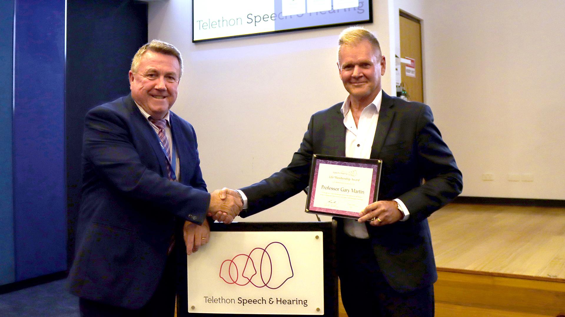 Professor Gary Martin - Honorary Life Membership